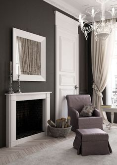 A Parisian apartment furnished with Minacciolo collection #fireplace #interiors