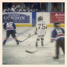 Lucas #75 playing in Springfield at the Nelson Center.  He scored 2 goals in the first game.  11-15