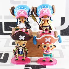 Huong Anime One Piece 10cm Tony Tony Chopper Pirates Of The Flag Action Figure Collection Toys Christmas Gift Toys & Hobbies