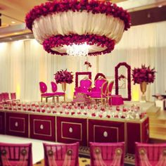 Modern Hindu wedding setup, wedding decor
