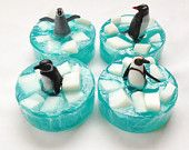Ice Flow Penguin embedded toy soap bar in Energy fragrance by Lavish Handcrafted