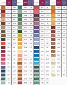 Nuestro Rincón de Punto de Cruz: Guía de Colores de Hilos.