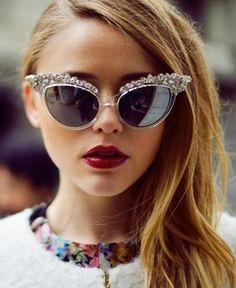 Swarovski Crystal Sunglasses by DSquared. Amazing. They definitely make a statement.