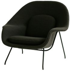 view this item and discover similar lounge chairs for sale at first year production womb chair for knoll in knoll classic grey cato wool - Womb Chair
