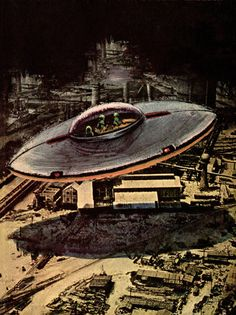 """Sergio Leone - The Flying Saucer Gambit, 1966. / The Science Fiction Gallery ****If you're looking for more Sci Fi, Look out for Nathan Walsh's Dark Science Fiction Novel """"Pursuit of the Zodiacs."""" Launching Soon! PursuitoftheZodiacs.com****"""