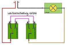 Wechselschaltung Und Kreuzschaltung Mit Schaltplan Campofant Schaltplan Schalter Elektroinstallation Selber Machen