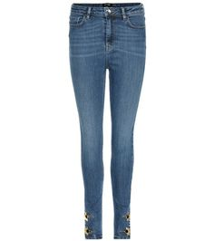 Anthony Vaccarello Embellished High-rise Skinny Jeans For Spring-Summer 2017