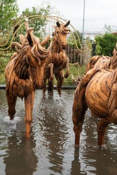 Note the foaming water around the horse's hoof - a way of creating realism in water features Garden Sculpture, Lion Sculpture, Sculpture Ideas, Mulberry Bush, Orange Cushions, Easy Care Plants, Cottage Garden Plants, Stone Statues, Back Gardens