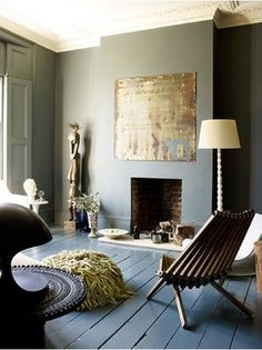 "Farrow & Ball ""Down Pipe"" on walls"