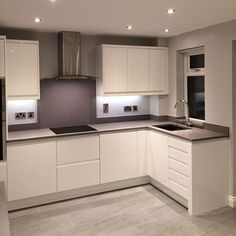 The colour palette of the moment - grey and white nestkitchens.co.uk