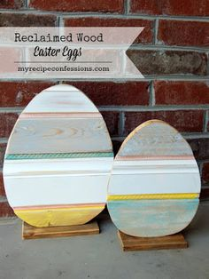 Easter eggs outdoor wood yard art lawn decoration for Wooden eggs for crafts