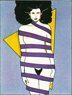 Decoy Magazine: Patrick Nagel, the ultimate influential illustrator of the Patrick Nagel, Art And Illustration, Nagel Art, Arte Pop, Pin Up Art, Magazine Art, Erotic Art, American Artists, Illustrators