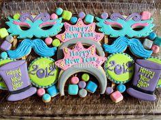 New Years cookies by Palestine Painted Cookie