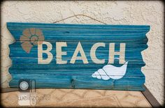 @tracyweinzapfel Beach Sign using Americana Decor Color Stains and Americana Decor Outdoor Living.