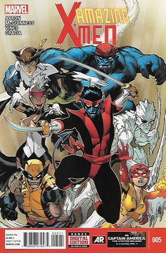 The Quest For Nightcrawler Part 5 _Written by Jason Aaron. Art and Cover by Ed McGuinness , ..Nightcrawler and his pirate band of X-Men take on Azazel and his hellish hordes! One of the X-Men must mak