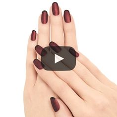 Ruby French - Red Black French Nail Art Design - Essie Nail Polish Looks Tutorial