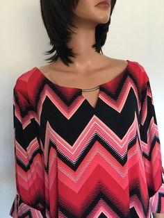 Avenue Plus Size 26/28 Woman Tunic Designer Fashion Multicolor #Avenue #Tunic