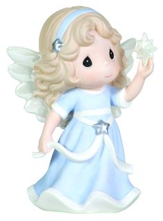"Precious Moments Annual Angel Holding Star Figurine ""Hope Shall Light The World"" First in Series - Holiday Figurines"