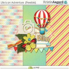 Quality DigiScrap Freebies: Life is an Adventure mini kit freebie from Kristin Aagard Designs