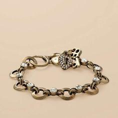 Brass Glitz Charm Bracelet