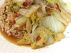 白菜ベーコンのペペロンチーノ風炒めの画像