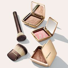 Hourglass Ambient Lighting Blush, Ambient Lighting Bronzer, Foundation/Blush Brush & Ambient Powder Brush #bnybeauty