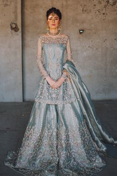 Latest Bridal Dresses, Pakistani Wedding Outfits, Pakistani Wedding Dresses, Pakistani Dress Design, Blue Wedding Dresses, Party Wear Dresses, Bridal Outfits, Pink Weddings, Indian Weddings