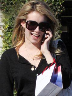 304520c409e81 Emma Roberts wearing Gucci Sunglasses Celebrity Sunglasses