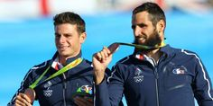 Canoë-kayak - JO_CANOE - Gauthier Klauss et Matthieu Péché en bronze. (Reuters)
