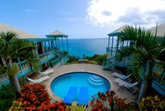 Relax by the pool at Water Cliff Villa St John U.S. Virgin Islands