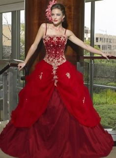 A Red Wedding Dress That Speaks For Itself