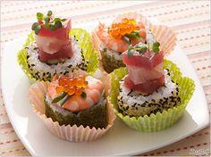 彩りミニロール寿司