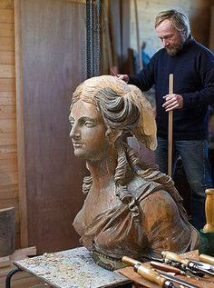 Figurehead restoration.