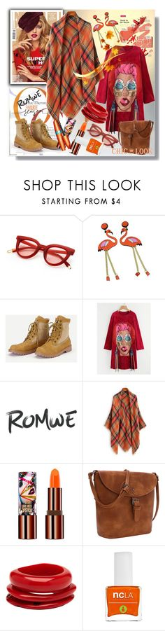 """""""Romwe 6/3"""" by pesanjsp ❤ liked on Polyvore featuring Teeez, Mimco, COVERGIRL and ncLA"""