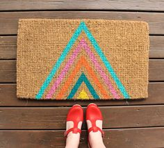 How to: Colorful Geometric Welcome Mat