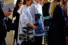 streetsnaps paris fashion week off white adidas yeezy boost 350 v2 comme des garcons