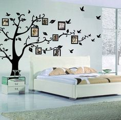 Memory Tree Photo Tree Wall Vinly Decal Decor Sticker Removable Wall Decal for Living Room - 45  Beautiful Wall Decals Ideas  <3 <3