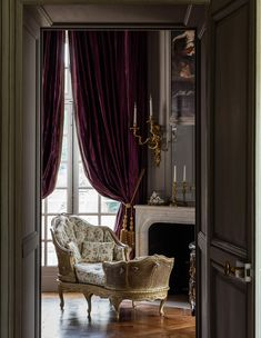 Photos of chateau de villette | THE HERITAGE COLLECTION Cozy Corner, Classic Interior, Decoration, Castle, Curtains, Collection, Bedroom, Home Decor, French Interiors