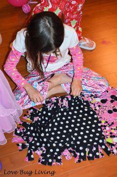 Love Bug Living: Sleepover & Craft Party with American Girl Fleece sleeping Bags
