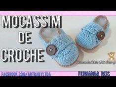 Mocassim de Croche - YouTube