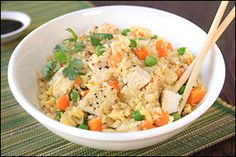 Hungry Girl's Cauliflower Fried Rice with Chicken