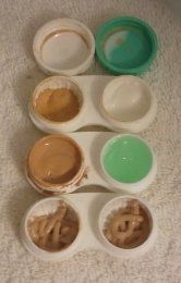 Carry-on packing tip: Consolidate makeup and creams into contact lens cases for light travel.  Thought I was a genius when I came up with this today...