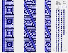 tassen roze en blauw patroon