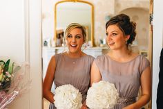 Image by Joseph-Hall Photography - Bride in Gracie Suzanne Neville Wedding Dress with Grey Bridesmaid Dresses from Coast for a Traditional Church Ceremony and Marquee Reception full of DIY Decor & Pink Flowers.