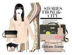 """""""Suitcase Season"""" by neicy-i ❤ liked on Polyvore featuring interior, interiors, interior design, home, home decor, interior decorating, Kate Spade, Black Coral, Chloé and AERIN"""