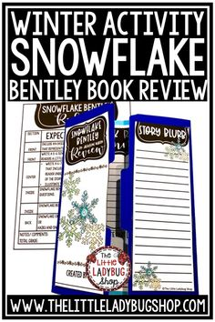 Snowflake Bentley Lap Book is ready for you to use with your students! This is a fantastic easy prep activity to do as a culminating project! This book review activity is a wonderful activity for this book. Perfect for 2nd grade, 3rd grade, 4th grade and homeschooling! #snowflakebentleyactivity #bookreviewactivity