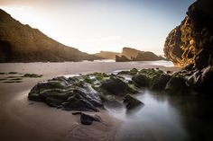 Stones at a beach in Portugal. Portugal, Waterfall, Lens, Stones, Beach, Outdoor, Outdoors, Rocks, Seaside