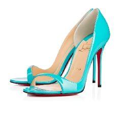 Christian Louboutin Toboggan 100 mm Blue Sandal