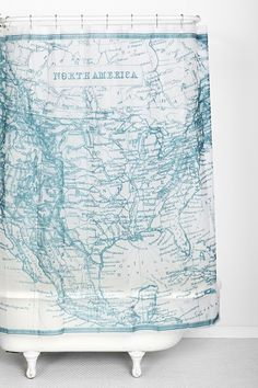 Antique Map Shower Curtain