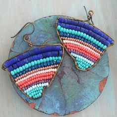 All beaded abstract earrings are OOAK at GypsyLamb ❤